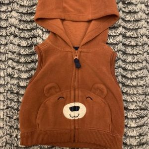 Newborn Hooded Bear Vest